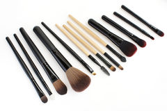 Makeup brushes set for professional Stock Images