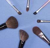 Makeup brushes set Stock Photography