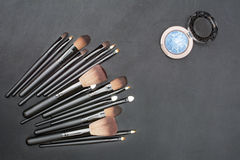 Makeup brushes set Royalty Free Stock Photography