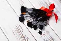 Makeup Brushes. Stock Photo