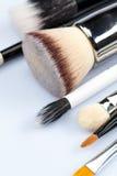 Makeup brushes on white background Royalty Free Stock Image