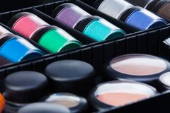 Makeup case containments Stock Image