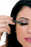 Makeup closeup Stock Photography