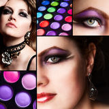 Makeup. Collage. Stock Photo
