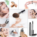 Makeup collage royalty free stock images