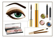 Makeup collage, cdr vector Stock Photography