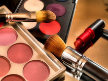 Makeup color Palette with lipstick Royalty Free Stock Photos