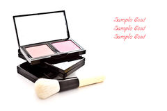 Makeup color set with makeup brush Royalty Free Stock Photography