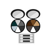 Makeup colored eye shadow brush Stock Photography