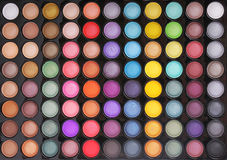 Makeup colorful eyeshadow palette Stock Images