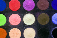 Makeup colorful eyeshadow palettes Royalty Free Stock Photos