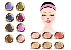 Makeup colors, cdr vector Royalty Free Stock Photo