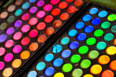 Makeup colours. Makeup kit by multiple colours Royalty Free Stock Photography