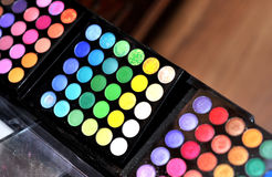 Makeup colours. Makeup kit by multiple colours Royalty Free Stock Photos