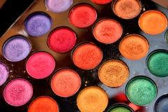 Makeup colours. Makeup kit by multiple colours stock images