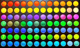 Makeup colours set. Makeup set details by multiple colours royalty free stock image