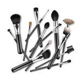 Makeup Concealer Powder Eye Shadow Brow Brushes Royalty Free Stock Photos