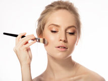 Makeup. Cosmetic. Base for Perfect Make-up Stock Photos