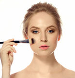 Makeup. Cosmetic. Base for Perfect Make-up Stock Images