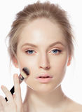 Makeup. Cosmetic. Base for Perfect Make-up Royalty Free Stock Images