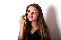 makeup cosmetic Grund för perfekt Make--up Arkivbild