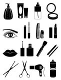 Makeup and cosmetic icons set Royalty Free Stock Photo