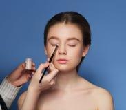 makeup cosmetic Palett för hudsignal Arkivbilder