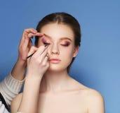 makeup cosmetic Palett för hudsignal Royaltyfri Fotografi
