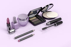 Makeup and cosmetic products Stock Photos