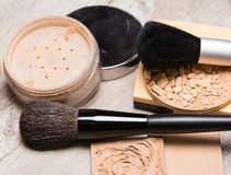 Makeup cosmetic products to even out skin tone Stock Image