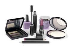 Makeup and cosmetic set Stock Photography