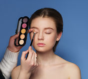 Makeup. Cosmetic. Skin tone palette. Royalty Free Stock Photo