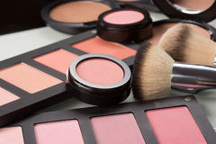 Makeup cosmetics. compact powder, mineral Royalty Free Stock Photography
