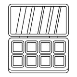 Makeup cosmetics icon, outline style Royalty Free Stock Photos