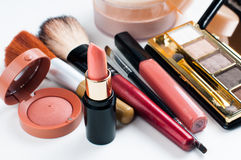 Makeup and cosmetics set Royalty Free Stock Photo