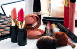 Makeup and cosmetics set Stock Photography