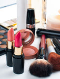 Makeup and cosmetics set Royalty Free Stock Image