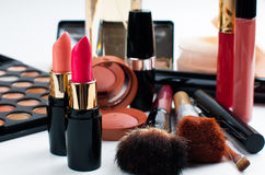 Makeup and cosmetics set Stock Image