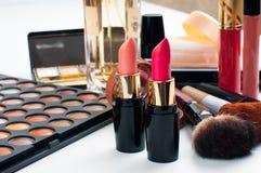 Makeup and cosmetics set Royalty Free Stock Photography