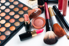 Makeup and cosmetics set Royalty Free Stock Photos