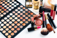 Makeup and cosmetics set Stock Images