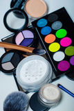 Makeup cosmetics. On white background Stock Photo