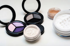 Makeup cosmetics. On white background Royalty Free Stock Images