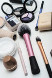 Makeup cosmetics. On white background Royalty Free Stock Photo