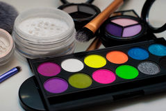 Makeup cosmetics. On white background Royalty Free Stock Image