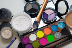 Makeup cosmetics. On white background Royalty Free Stock Photography