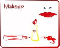 makeup czerwień Zdjęcie Royalty Free