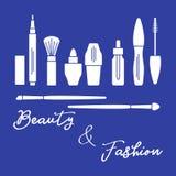 makeup Decoratieve schoonheidsmiddelen, kosmetische olie royalty-vrije illustratie