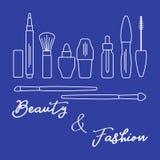 makeup Decoratieve schoonheidsmiddelen, kosmetische olie vector illustratie