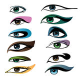 Makeup for different eye Royalty Free Stock Image